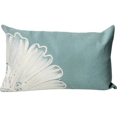 Kaitlyn Antique Medallion Indoor/Outdoor Lumbar Pillow Color: Aqua