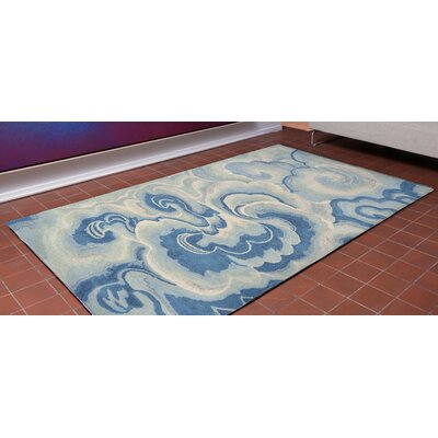 Buckleys Hand-Tufted Blue Area Rug Rug Size: 3'6