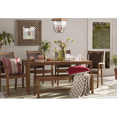 Buckeys Hand-Woven Green Indoor/Outdoor Area Rug Rug Size: 5 x 76