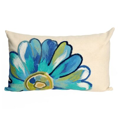 Kara Daisy Outdoor Lumbar Pillow Color: Aqua