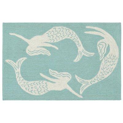 Capri Mermaids Handmade Blue Indoor/Outdoor Area Rug Rug Size: 2 x 3