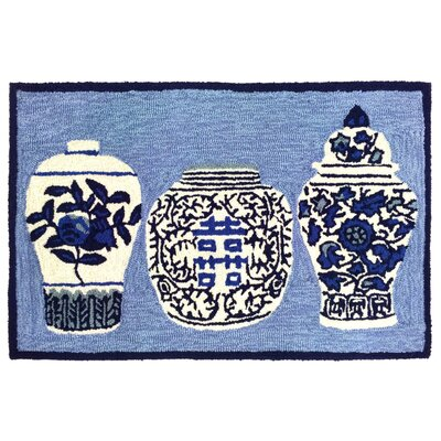 Boydtown Ginger Jars Handmade Blue Indoor/Outdoor Area Rug Rug Size: 26 x 4