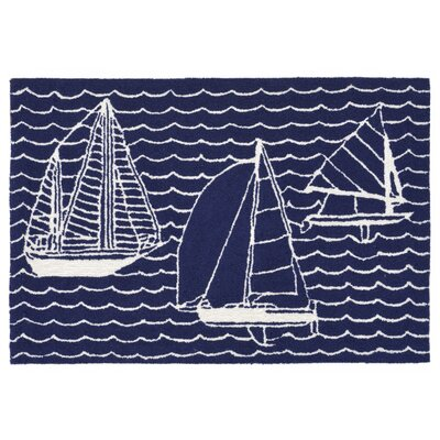 Northfield Sails Handmade Navy Indoor/Outdoor Area Rug Rug Size: 2 x 3