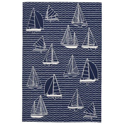 Sweeney Sails Handmade Navy Indoor/Outdoor Area Rug Rug Size: Runner 2 x 8