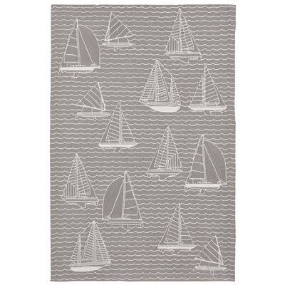 Northfield Sails Handmade Gray Indoor/Outdoor Area Rug Rug Size: 18 x 26