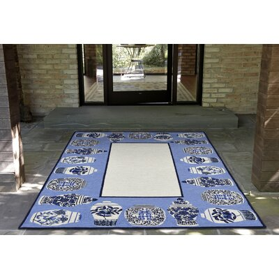 Ardelle Ginger Jars Handmade Tufted Blue Indoor/Outdoor Area Rug Rug Size: 76 x 96