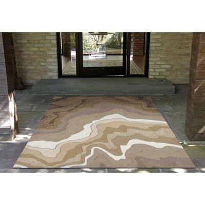 Aline Handmade Khaki Indoor/Outdoor Area Rug Rug Size: 18 x 26