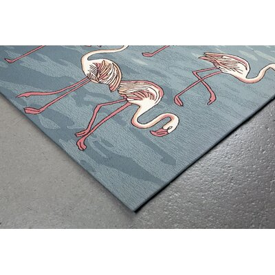Boller Flamingo Handmade Blue Indoor/Outdoor Area Rug Rug Size: 5 x 76
