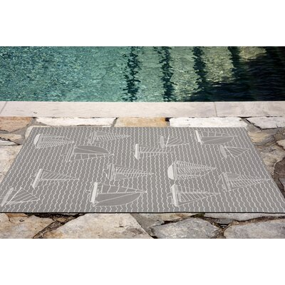 Northfield Sails Handmade Gray Indoor/Outdoor Area Rug Rug Size: 5 x 76
