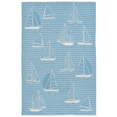 Northfield Sails Handmade Water Resistant Blue Indoor/Outdoor Area Rug Rug Size: Runner 2 x 8