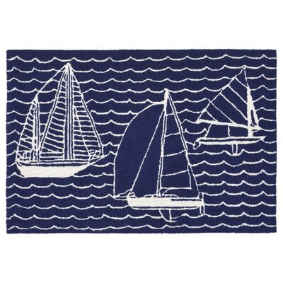 Sweeney Sails Handmade Navy Indoor/Outdoor Area Rug Rug Size: 2 x 3