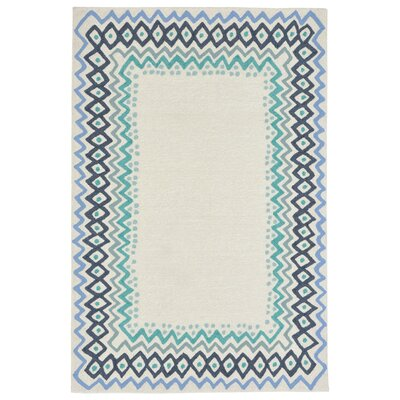 Northfield Ethnic Hand-Tufted Ivory Indoor/Outdoor Area Rug Rug Size: 5 x 76