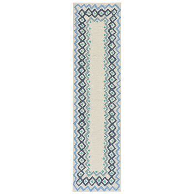 Northfield Ethnic Hand-Tufted Ivory Indoor/Outdoor Area Rug Rug Size: Runner 2 x 8