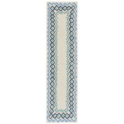Northfield Ethnic Hand-Tufted Ivory Indoor/Outdoor Area Rug Rug Size: Runner 2 x 8