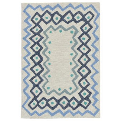 Northfield Ethnic Hand-Tufted Ivory Indoor/Outdoor Area Rug Rug Size: 2 x 3