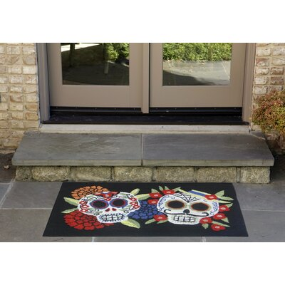 Mr.and Mrs. Muerto Hand-Tufted Black Indoor/Outdoor Area Rug Rug Size: 18 x 26