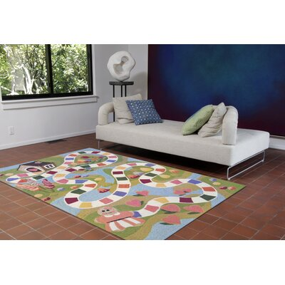 Raymond Fun and Sweets Hand-Tufted Multicolor Indoor/Outdoor Area Rug Rug Size: 36 x 56