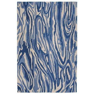 Lalunita Marble Hand-Tufted Navy Indoor/Outdoor Area Rug Rug Size: 8 x 10