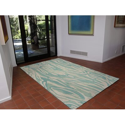 Andres Marble Hand-Tufted Blue Indoor Area Rug Rug Size: 9 x 12