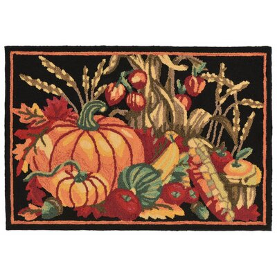 Harvest Hand-Tufted Black Indoor/Outdoor Area Rug