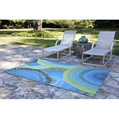 Visions IV Cirque Handmade Blue Indoor/Outdoor Area Rug Rug Size: Runner 23 x 8