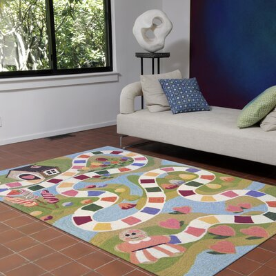 Raymond Fun and Sweets Hand-Tufted Multicolor Indoor/Outdoor Area Rug Rug Size: 2 x 3