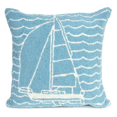 Velva Sails Indoor/Outdoor Throw Pillow Color: Blue