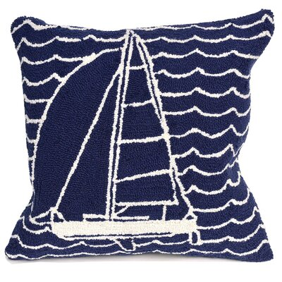 Velva Sails Indoor/Outdoor Throw Pillow Color: Navy