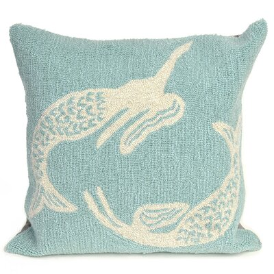 Marshtown Mermaids Indoor/Outdoor Throw Pillow Color: Blue