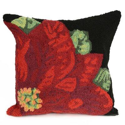 Calderon Poinsettia Indoor/Outdoor Throw Pillow