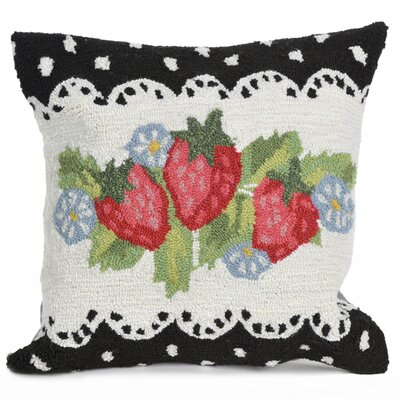 Calderon Strawberries Indoor/Outdoor Throw Pillow