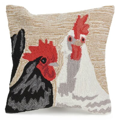 Calderon Rooster Duet Indoor/Outdoor Throw Pillow