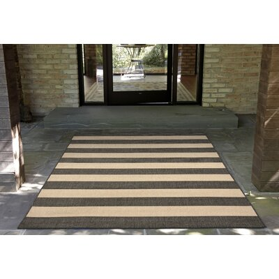 Kensa Charcoal/Beige Indoor/Outdoor Area Rug Rug Size: Runner 111 x 76