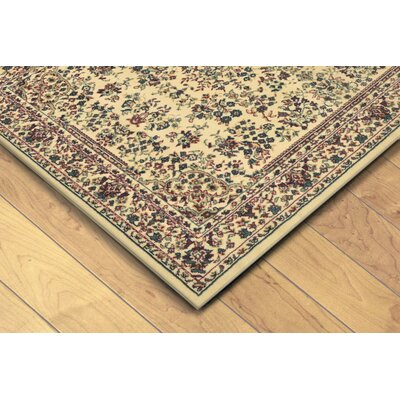Arias Sarouk Ivory/Red Indoor Area Rug