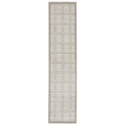 Ayia Maze White/Gray Area Rug Rug Size: Runner 18 x 73