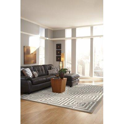 Ayia Maze White/Gray Area Rug Rug Size: 410 x 76