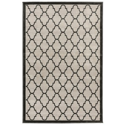 Moline Trellis Gray Area Rug Rug Size: 33 x 411