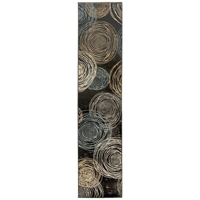 Archbald Constellation Black/Beige Area Rug Rug Size: Runner 18 x 73
