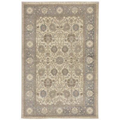 Montes Sarouk Ivory/Gray Indoor Area Rug Rug Size: 410 x 76