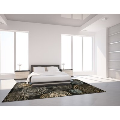 Archbald Constellation Black/Beige Area Rug Rug Size: 33 x 411