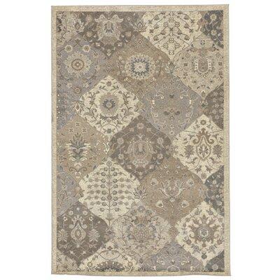 Montes Kermin Cream/Gray Area Rug Rug Size: 710 x 910