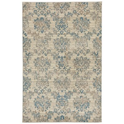 Montes Cream/Blue Indoor Area Rug Rug Size: 710 x 910