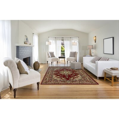 Arias Kermin Red Area Rug Rug Size: Runner 11 x 7