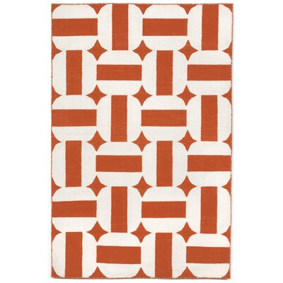 Assisi Paprika Circles Hand Woven Paprika Indoor/Outdoor Area Rug Rug Size: Rectangle 5 x 76