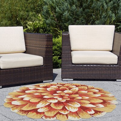 Ismay Hand-Tufted Orange Indoor/Outdoor Area Rug Rug Size: 2 x 3