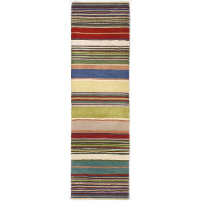 Varley Yellow Stripes Area Rug Rug Size: 8 x 10