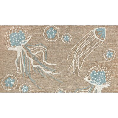 Bluegrass Jellies Hand-Tufted Beige Indoor/Outdoor Area Rug Rug Size: Rectangle 36 x 56
