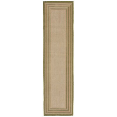 Lambert Multi Border Beige Indoor/Outdoor Area Rug Rug Size: Runner 111 x 76