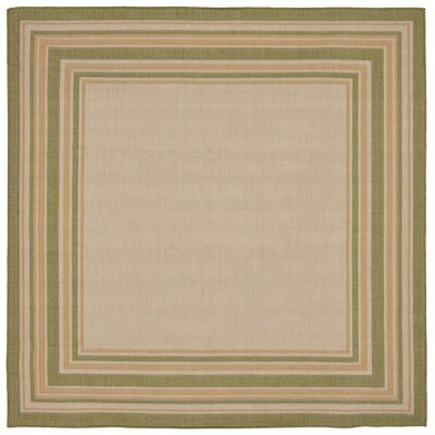 Lambert Multi Border Beige Indoor/Outdoor Area Rug Rug Size: Square 710