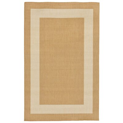 Aaliyah Border Beige Indoor/Outdoor Area Rug Rug Size: Rectangle 410 x 76